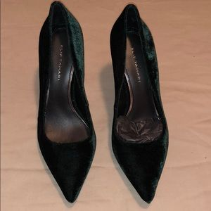 Elie Tahari Velvet Green Pumps